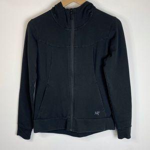 Arc'teryx Zip Up Hooded Jacket Black Size S